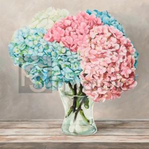 Remy Dellal - Fleurs et Vases Blanc II