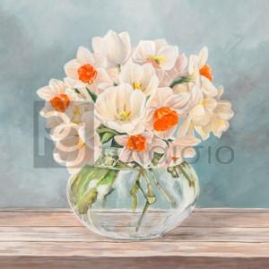 Remy Dellal - Fleurs et Vases Aquamarine II
