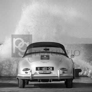 Gasoline Images - Ocean Waves Breaking on Vintage Beauties (BW detail 2)