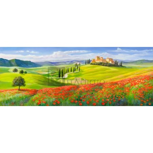 Adriano Galasso - Verso il borgo in Toscana