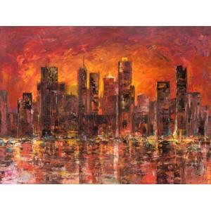 Luigi Florio - Sunset in New York