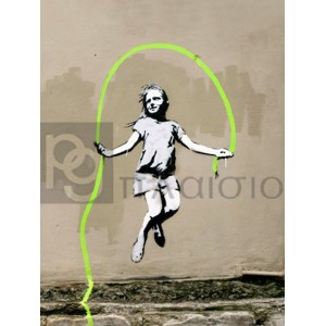 Banksy - Girl – North 6th Avenue, NYC
