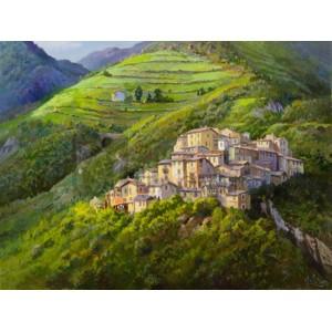 Adriano Galasso - Villaggio sui monti