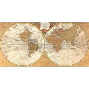 Joannoo - Gilded World Hemispheres I
