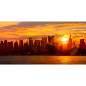 Shaun Green - Sunset over Manhattan