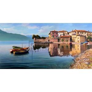 Adriano Galasso - Paese sul lago
