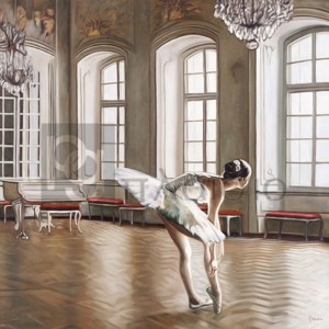PIERRE BENSON - Rehearsing Ballerina