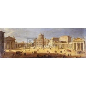 Gaspar Van Wittel - Piazza San Pietro, Rome (detail)