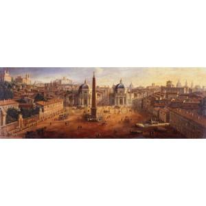Gaspar Van Wittel - Piazza del Popolo, Rome (detail)