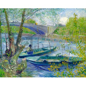 Vincent Van Gogh - Fishing in Spring, the Pont de Clichy (Asnires)