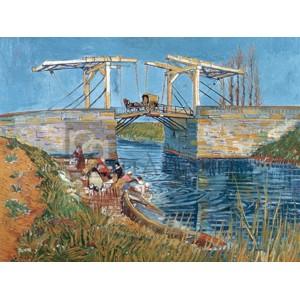 Vincent Van Gogh - Langlois Bridge with women washing