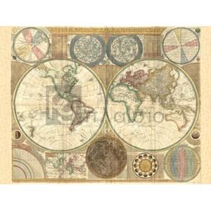 Samuel Dunn - Double hemisphere map of the world, 1794