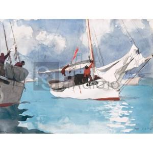 Winslow Homer - Fishing Boats, Key West
