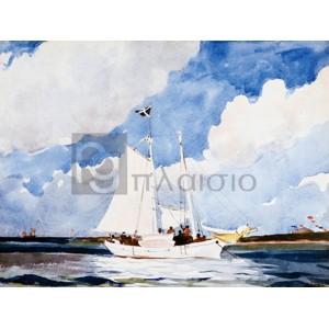 Winslow Homer - Fishing Schooner, Nassau