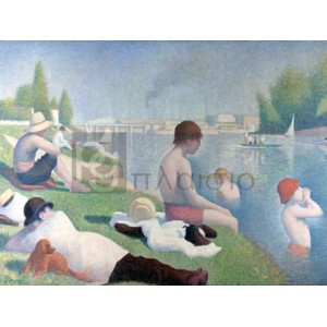 Georges Seurat - Bathers at Asnieres (detail)