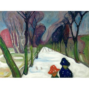 Edvard Munch - Avenue in the Snow