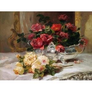 Eugene Henri Cauchois - Roses on a Dressing Table