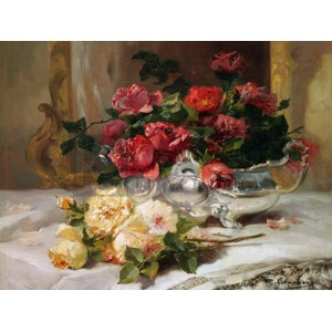 Eugene Henri Cauchois - Roses on a Dressing Table