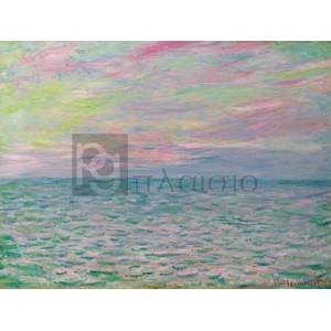 Claude Monet - Coucher De Soleil à Pourville, Pleine Mer
