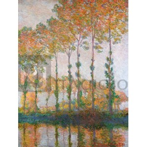 Claude Monet - Poplars on the Banks of the l'Epte, Autumn