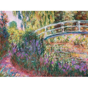 Claude Monet - The Japanese Bridge, Pond with Water Lillies (detail)