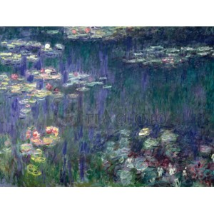 Claude Monet - Waterlilies: Green Reflections