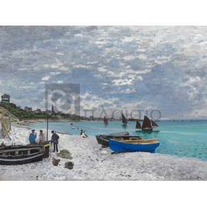 Claude Monet - The Beach at Sainte-Adresse