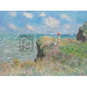 Claude Monet - Cliff Walk at Pourville