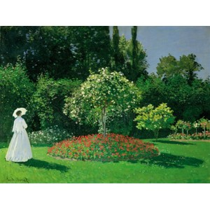 Claude Monet - Young Woman in a Garden