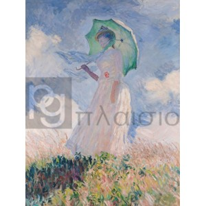 Claude Monet - Woman with Parasol (Left)