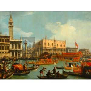 Canaletto - Il ritorno del Bucintoro al molo davanti a Palazzo Ducale