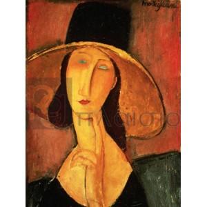 Modigliani Amedeo Clemente - Portrait of Jeanne Hebuterne