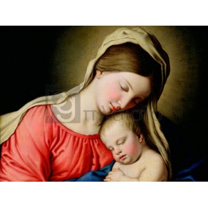 Sassoferrato - Beata Vergine con Bambino (detail)