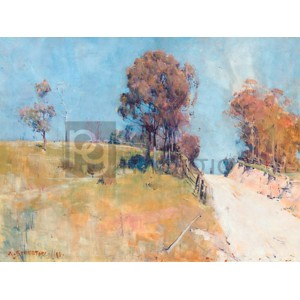 Arthur Streeton - Sunlight (Cutting on a hot road)