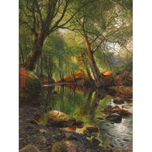 Peder Mork Monsted - A woodland stream