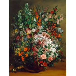 Gustave Courbet - Bouquet of flowers in a vase