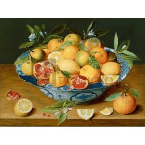 Jacob Van Hulsdonck - Still Life with Lemons, Oranges and a Pomegranate