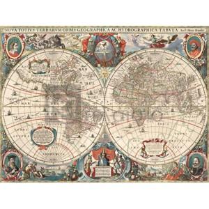 Hendrik Hondius - Nova totius Terrarum Orbis geographica ac hydrographica tabula
