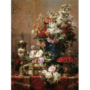 Jean-Baptiste Robie - Composition with Roses
