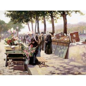 JULES ANTOINE VOIRIN - The Quays of the Seine, Paris
