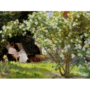 Peder Severin Kroyer - Seated in the garden of roses