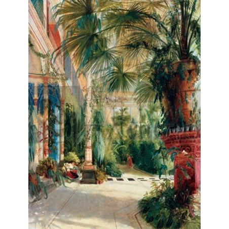 Carl Blechen - Das Innere des Palmenhauses