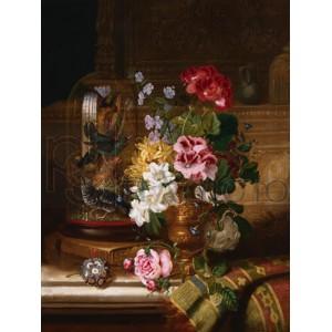 William John Wainwright - A Vase of Assorted Flowers