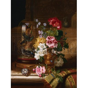William John Wainwright - A Vase of Assorted Flowers