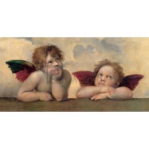 Raffaello - Angeli - Madonna Sistina (detail)
