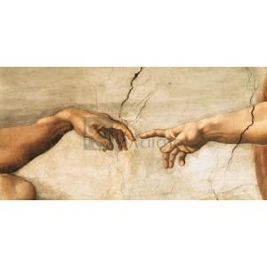 Michaelangelo Buonarroti - La creazione di Adamo (detail)