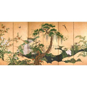 Kano Eino - Birds and Flowers of Spring and Summer