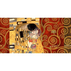 Gustav Klimt - Klimt Patterns - The Kiss (Gold)