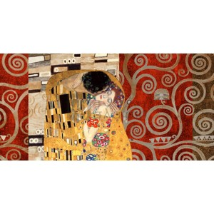 Gustav Klimt - Klimt Patterns - The Kiss (Pewter)