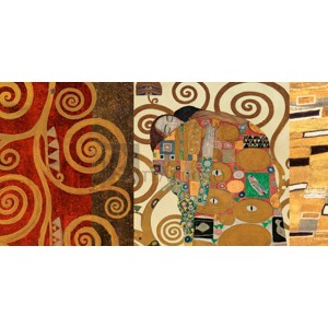 Gustav Klimt - Klimt Patterns - The Embrace (Gold)
